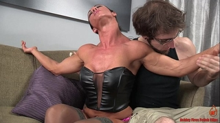 Sexy built slutwife and the slender guy
