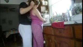 Fucking housewife in kitchen