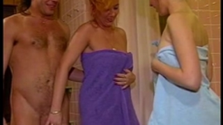 Threesome baths fuck with hot blond older