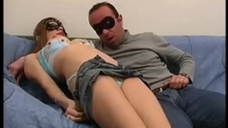 He licks her muff in advance of to pull out a large penis