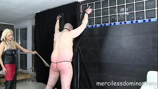 Lady zsi whips her corpulent thrall