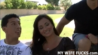 Watch your cheating wife gangbang a large cocked stranger