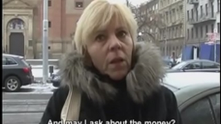 Czech milf gives a head for a concupiscent penis
