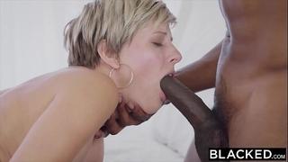 Blacked BBC slut copulates 2 bbcs