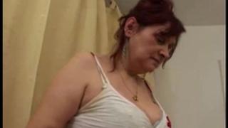 Busty shaggy granny receives group-fucked
