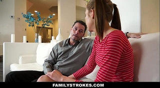 Familystrokes - step-daughter learns to be a worthy black cock sluts