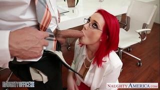 Redhead office playgirl siri fucking