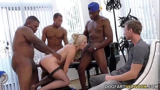 Summer day enjoys anal group sex - cuckold sessions