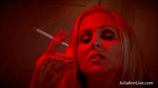 Busty golden-haired milf julia ann gives smokin' bj!