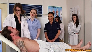 Cfnm nurses cocksucking patients rod