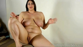 Beautiful breasty bbw brunette hair can't live without to talk about her fine large pointer sisters