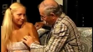Teeny screwed by lustful old man
