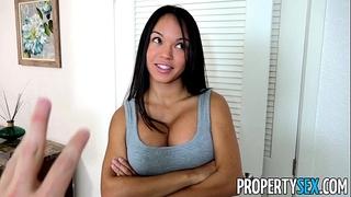 Propertysex - panty sniffing landlord copulates hawt latin babe tenant with large weenie