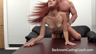 Hot redhead booty screwed and cummed in