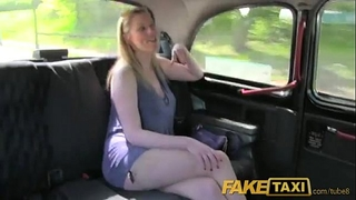 Fake taxi lengthy haired milf drilled on back seat