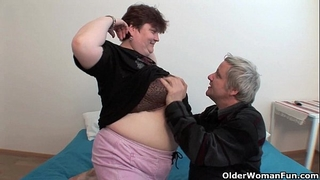 Bbw grandma still enjoys grandpa's diminutive ramrod