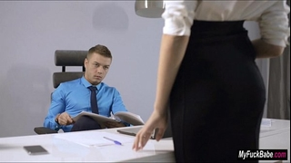 Sexy secretary sheri vi seduces her boss and copulates him