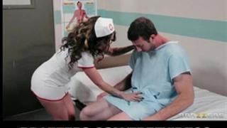 Sexy nurse in uniform screwed by patient