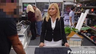 Mature white wife gangbanged at pawn shop