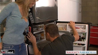Blondie julia ann acquires nailed and facialized