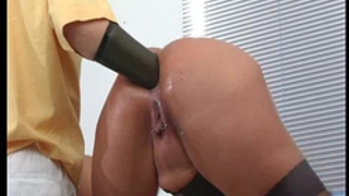 Two double anal fist drilled non-professional milfs
