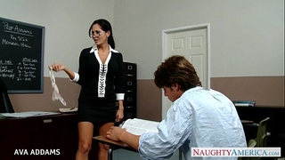 Teacher in glasses ava addams receives large wobblers drilled