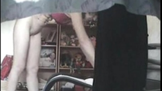 Mom home alone masturbating lastly caught by my hidden webcam