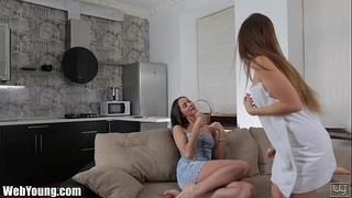 Webyoung lesbo peeping legal age teenager eating sopping soaked snatch