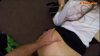Amateur playgirl pounded by pawnshop keeper inside the office