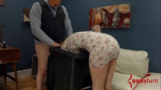 Goth Married slut receives anal torment and facefucking in the garbage