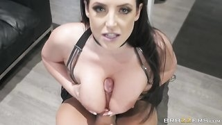 Horny pornstar fucks divorce lawyer in front of her husband