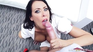 Sluttiest nurse around gets pounded by her horny colleague