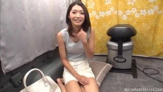 Magnificent Asian lady sucks guy's pecker in a van