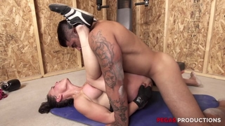 Nasty mature Tanya gets anally fucked in the gym