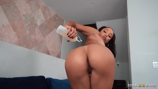 Pigtailed ebony in high heels gets anal from her boyfriend