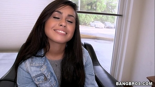 Cute shy latin chick desires to be in porn