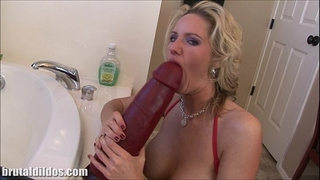 Busty blond milf zoe fills her fur pie with a biggest sextoy