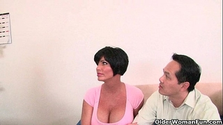 Cuckold hubby watches his cheating wife being screwed by a biggest dark dong