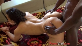 Arab horny white wife married screwed by large weenies!! french non-professional