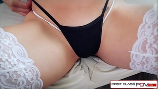 First class pov - see nikki knightly suking and fucking a large ramrod