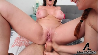 Hottest 3some! breasty milf sara jay bonks her airbnb guests!