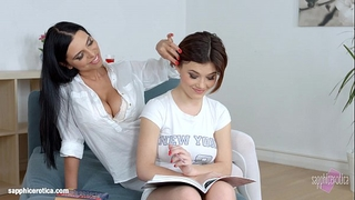 Lesson fantasies by sapphic erotica - carnal erotic lesbo porn with kyra queen a