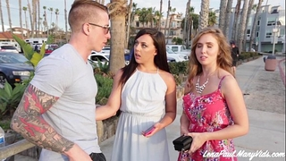Lena paul and whitney wright share boyfriend nathan red's wang