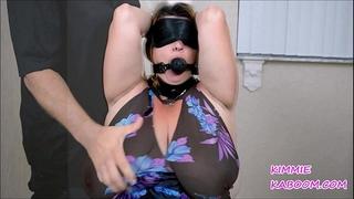 Kimmie kaboom boob & nipp punishment
