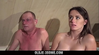two virgins jump on older man knob and copulates his brains out in trio sex