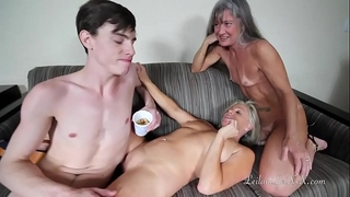 Milfs use youthful guy