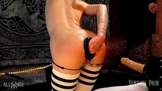 Extreme anal plug stretch fisting serf