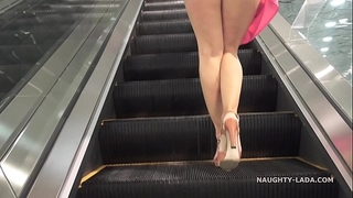No pants shopping public flashing upskirt