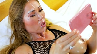 Perfect pov large tit kianna dior gives pov blow job & acquires hawt facial