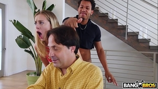 Bangbros - juvenile haley reed copulates boyfriend behind her dad's back
